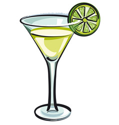 Martini cocktail vector