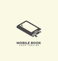 mobile book logo vector image