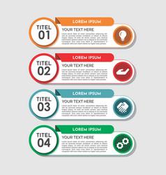 modern four steps infographics template design vector image