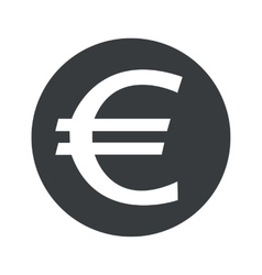 Monochrome round euro icon vector image