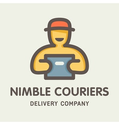 Nimble Couriers Logo vector image