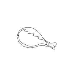 one continuous line drawing hot spicy crispy vector image