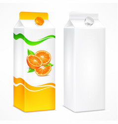 orange juice package vector image