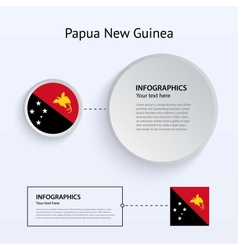 Papua New Guinea Country Set of Banners vector image