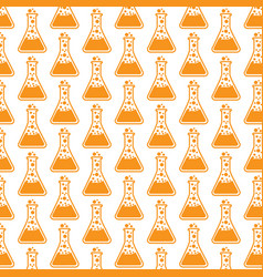 Pattern background test tube icon vector