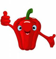 pepper character giving thumbs up vector image