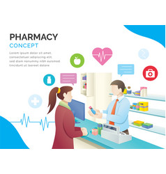 pharmacy store concept vector image