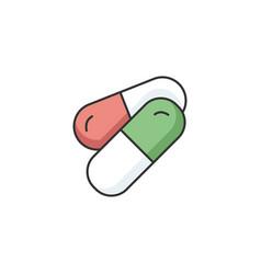 Pills rgb color icon vector