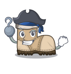 Pirate working boots isolated on the mascot vector