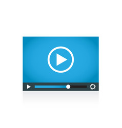 play icon play video in flat style vector image