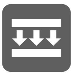 Pressure Down Flat Squared Icon vector image