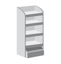 rack shelves for supermarket floor showcases on a vector image