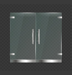 realistic 3d detailed glass door close on a vector image