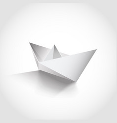 realistic paper boat vector image