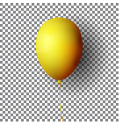 realistic yellow balloon isolated on transparent vector image