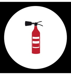 Red fire extinguisher simple isolated icon eps10 vector