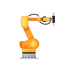 robotic arm drill isolated hydraulic robotic arm vector image
