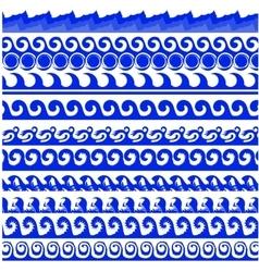 Sea Waves Set vector