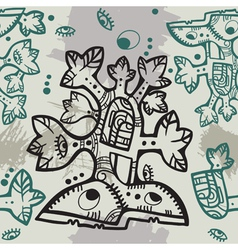 Seamless aztec vector