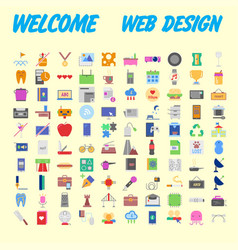 Set of multicolored icons for your design vector