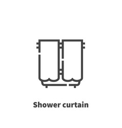 shower curtain icon symbol vector image