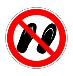 Sign no sandals 1904 vector image
