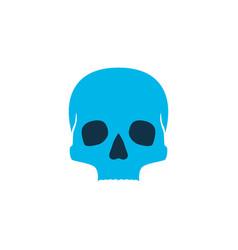 skull icon colored symbol premium quality vector image