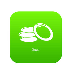 soap icon green vector image