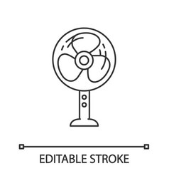 stand floor fan linear icon vector image