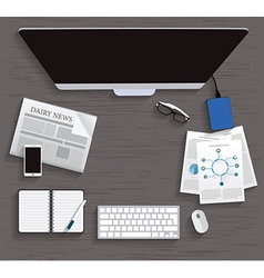 Table working business meeting high angle view vector