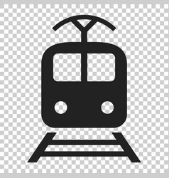 train transportation icon on isolated transparent vector image