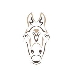 Tribal horse vector
