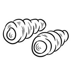 tubes with whipped cream doodle vector image