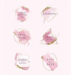variety cute wedding frames vector image