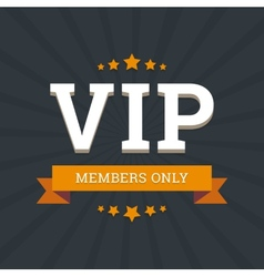 Vip - members only background card template vector