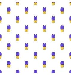 Waiter costume pattern cartoon style vector image