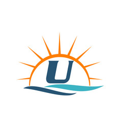 Wave sunset initial u vector