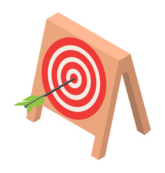 wood target icon isometric style vector image