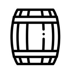 Wooden barrel icon outline vector