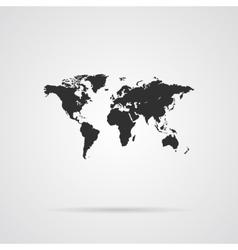 World Map Gray Icon vector image