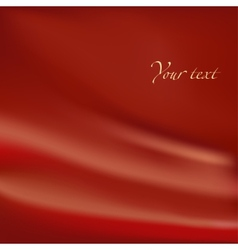 Abstract background Red material with folds vector image vector image