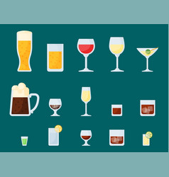Alcohol drinks beverages cocktail lager container vector