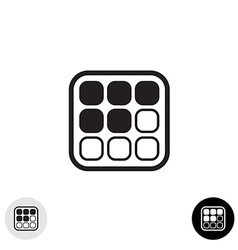Array cells icon vector image
