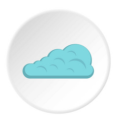 Cumulus cloud icon circle vector