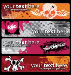 emo banners vector image vector image