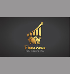 finance people success gold logo graphic vector image vector image