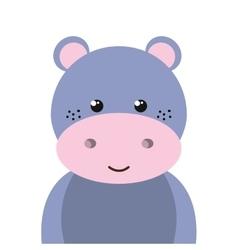 hippopotamus animal cartoon vector image
