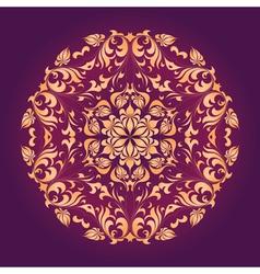 ornamental circle vector image