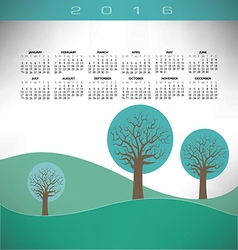 2016 Creative trees landscape vector image vector image