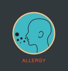allergy logo icon vector image